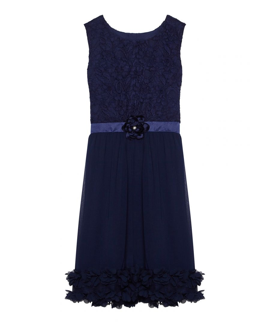 Image for Lace And Chiffon Dress With 3D Flower He