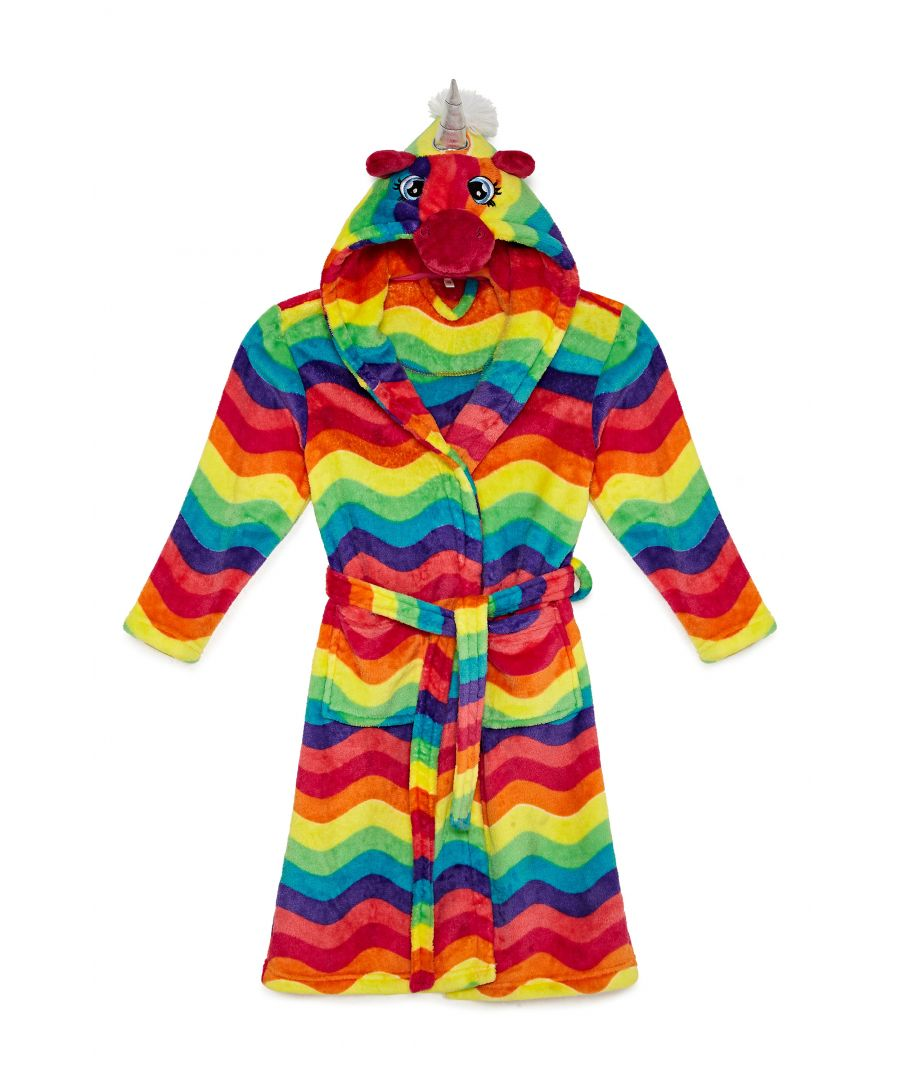 Image for Girls Bright  Rainbow Unicorn Robe