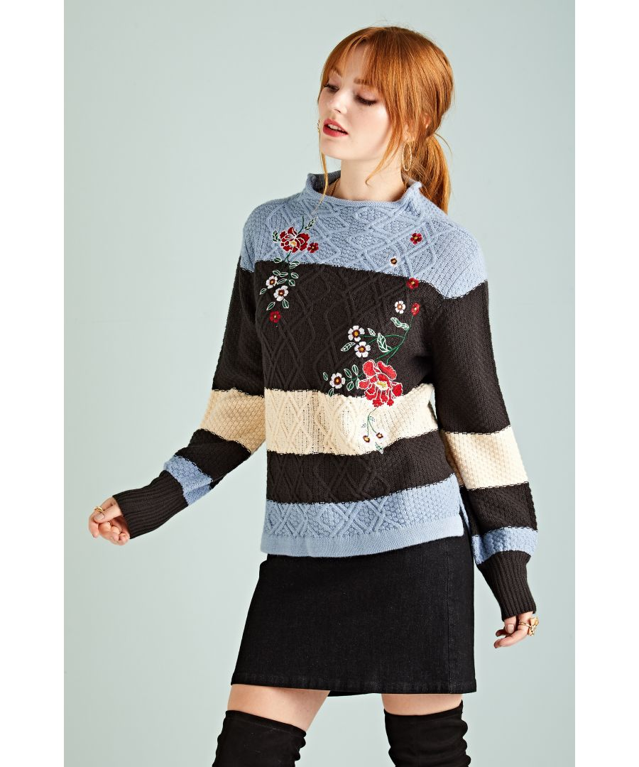 Image for STRIPE EMBROIDERY JUMPER