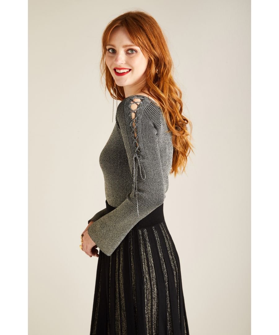 Image for LACE UP RIB JUMPER