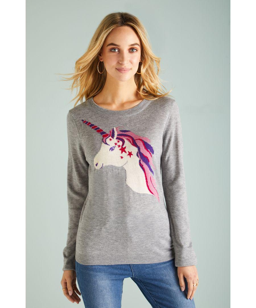 Image for Unicorn Intarsia Jumper