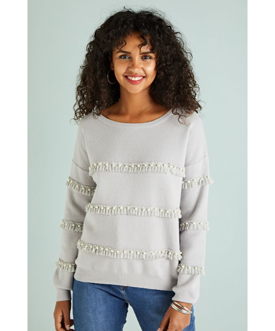 Image for Ruffle and Pearl Jumper