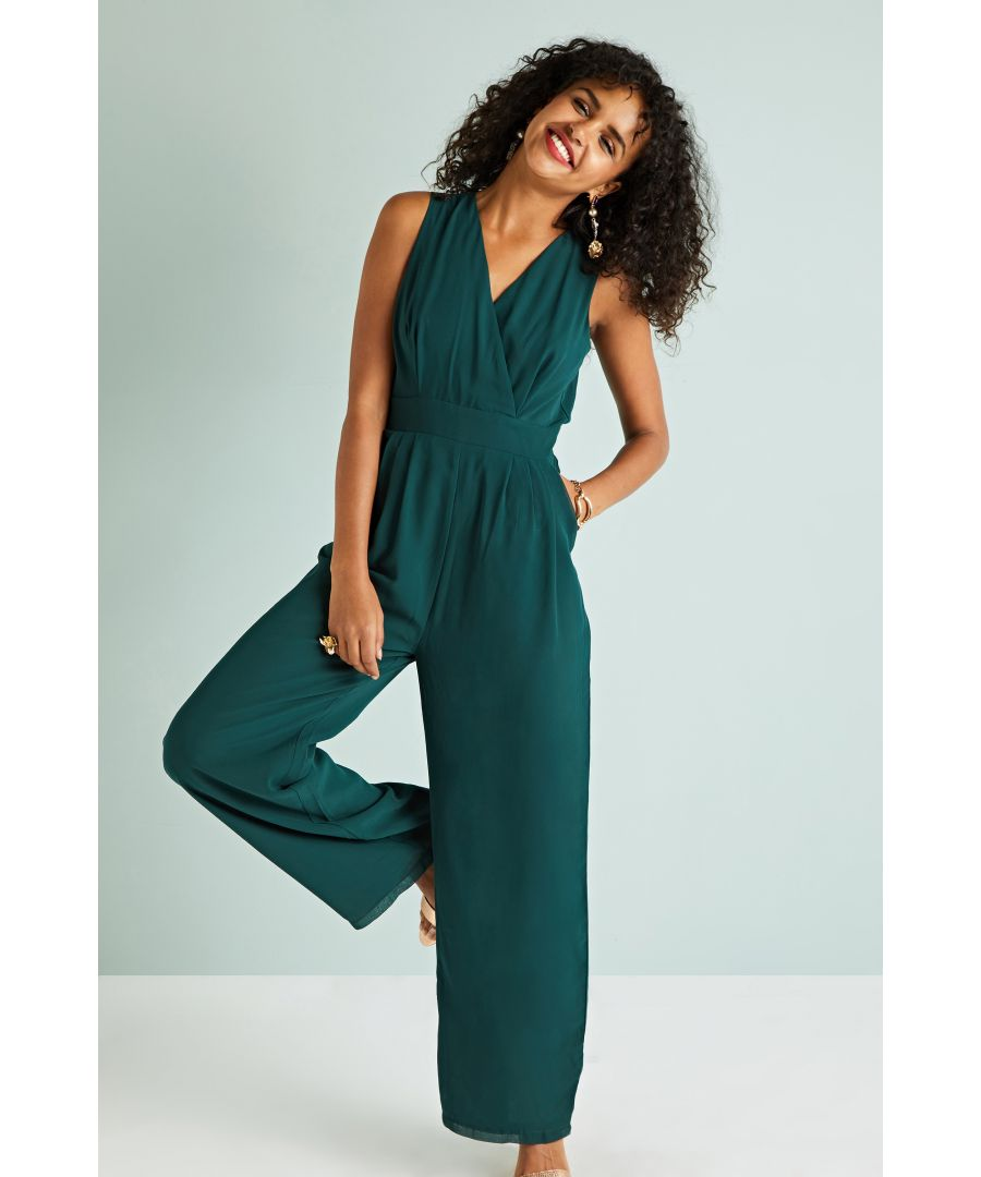Image for Wrap Jumpsuit With Pockets