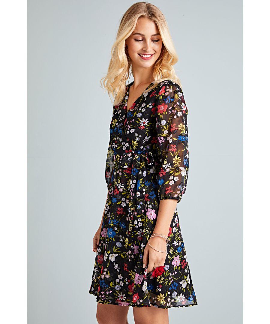 Image for Spring Flower Wrap Dress