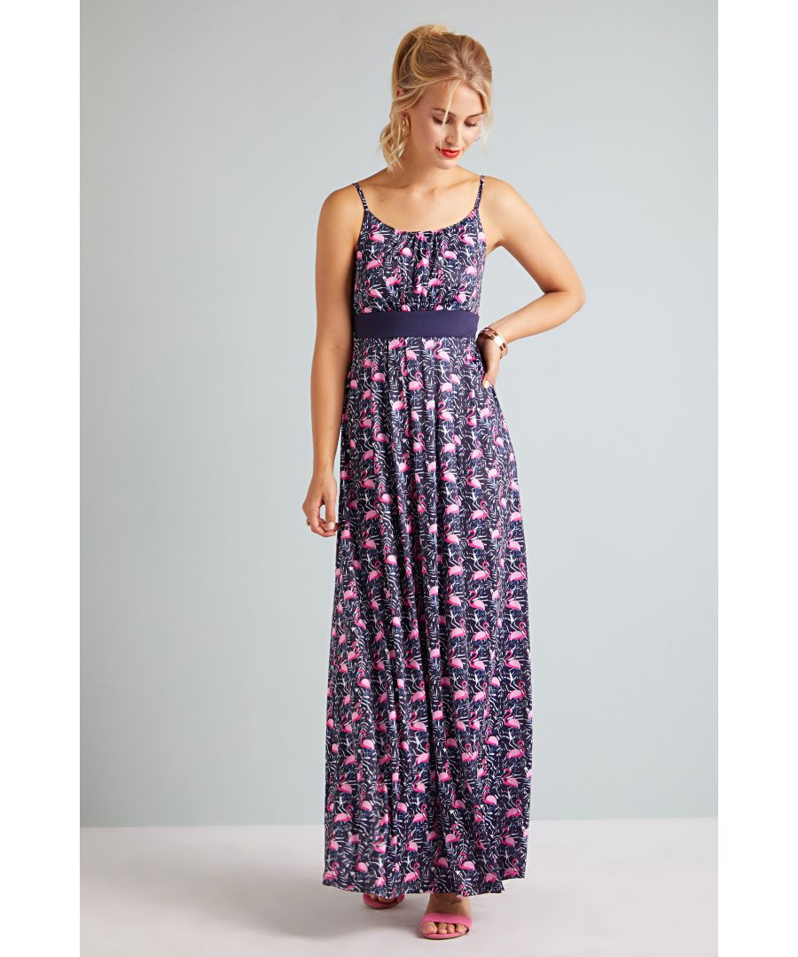 Image for Flamingo Jersey Maxi Dress