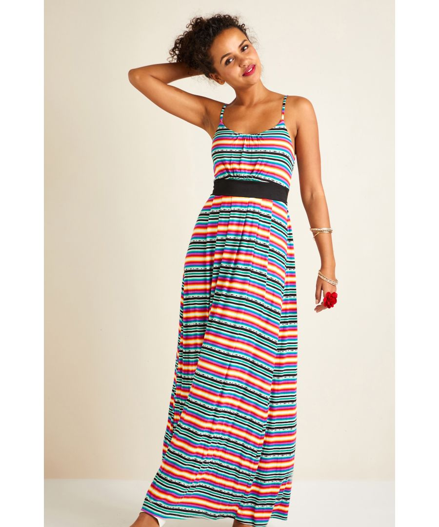 Image for Mexican Jersey Stripe Maxi Dress