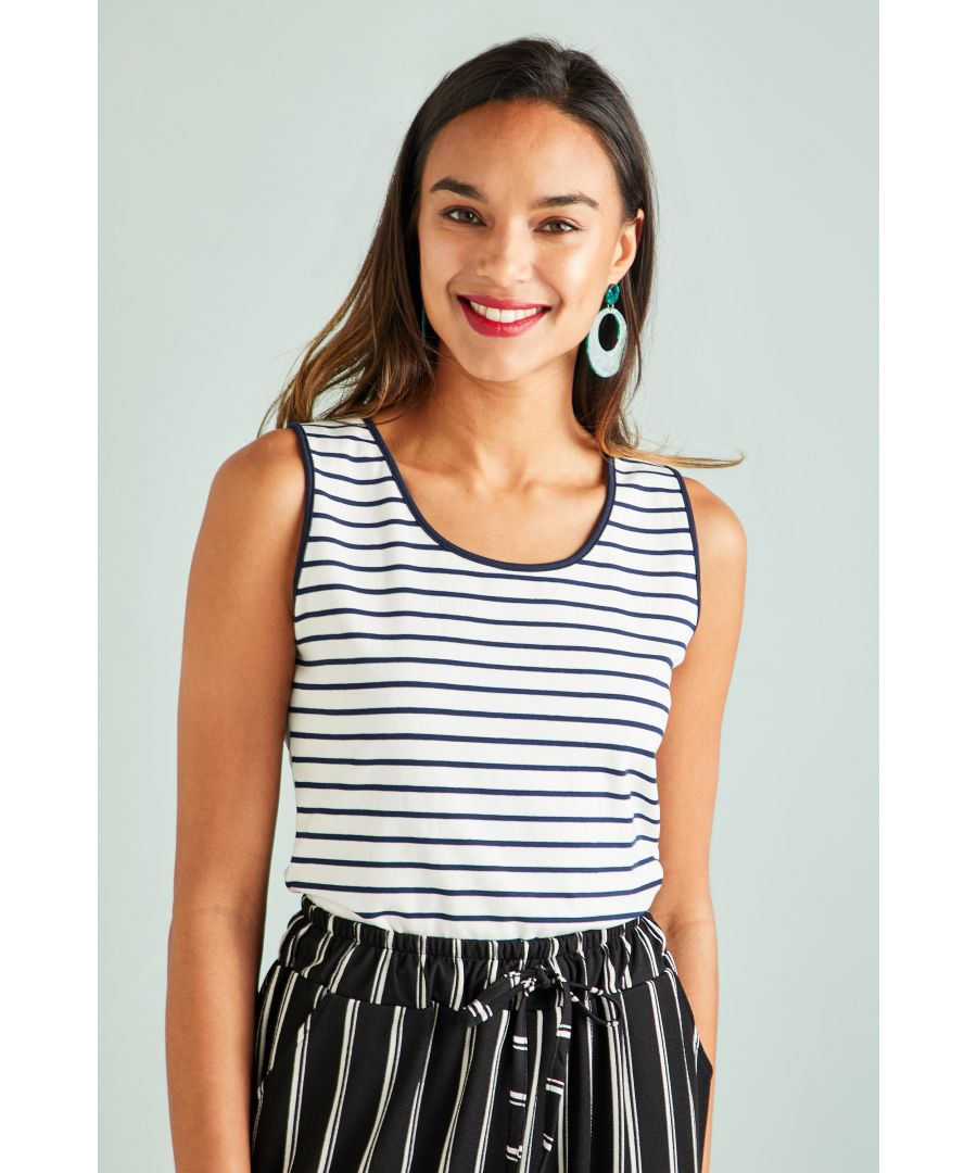 Image for Jersey Stripe Vest Top