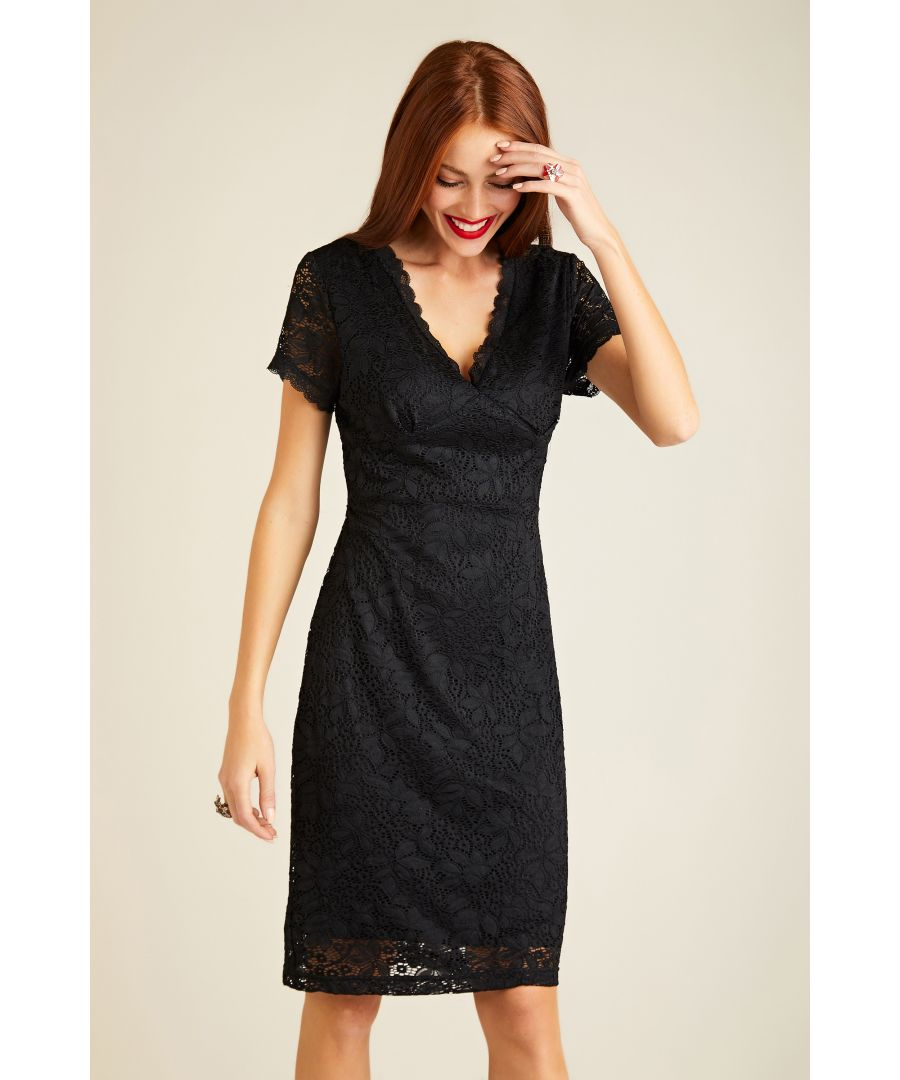 Image for Fitted Lace Dress With Back Detail