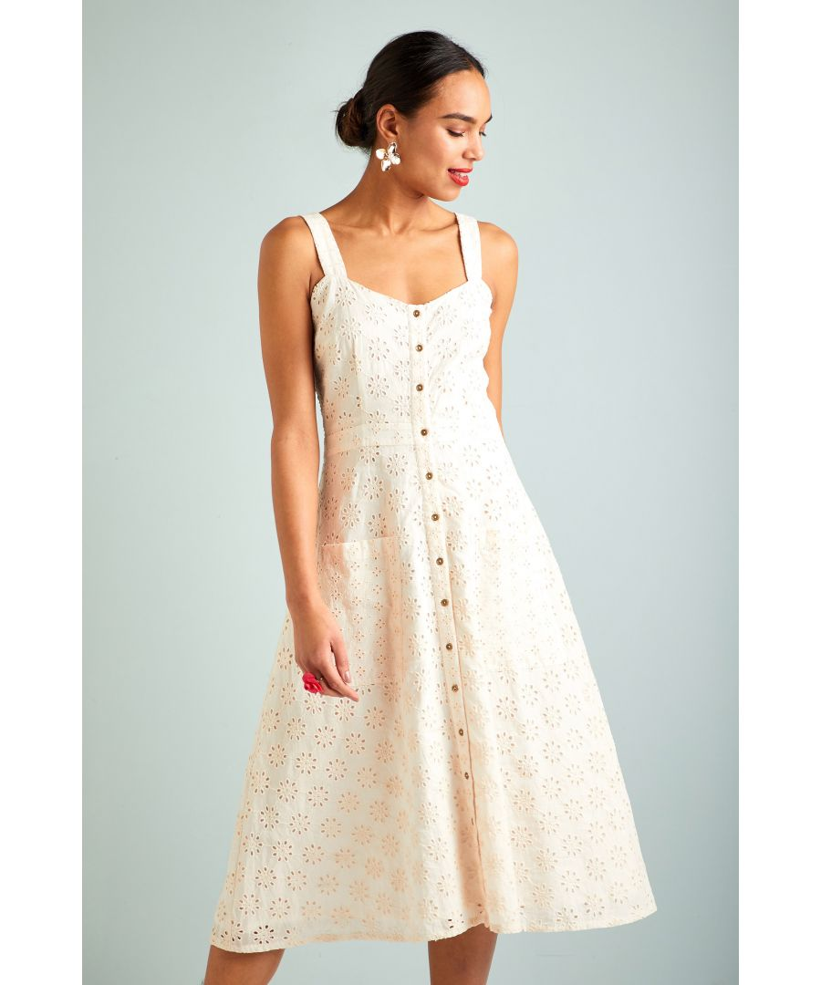 Image for Broderie Anglaise Button Sundress
