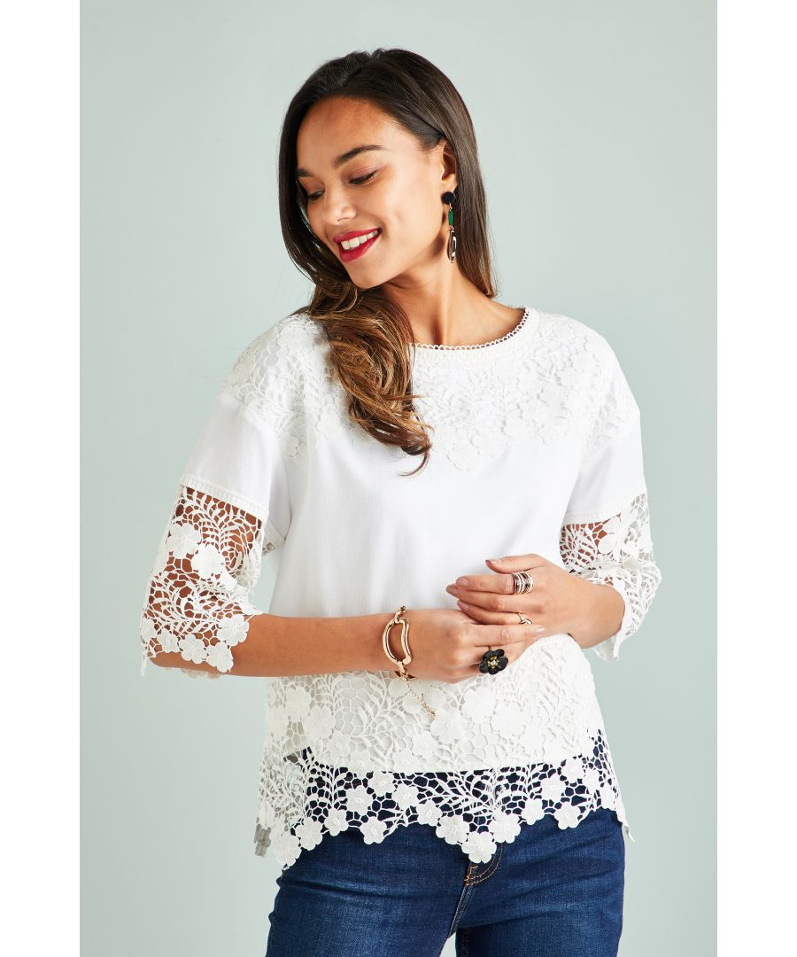 Image for Heavy Lace Panel Top