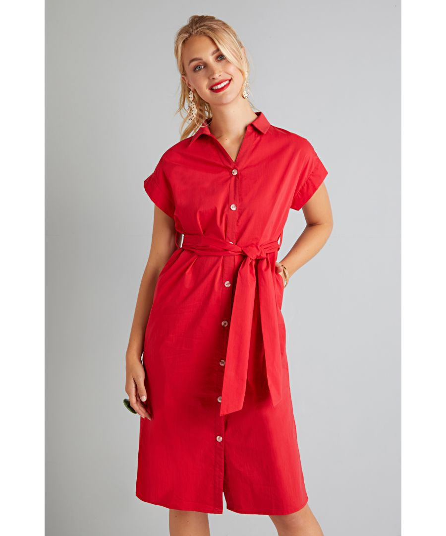 Image for Utility Shirt Dress With Pockets