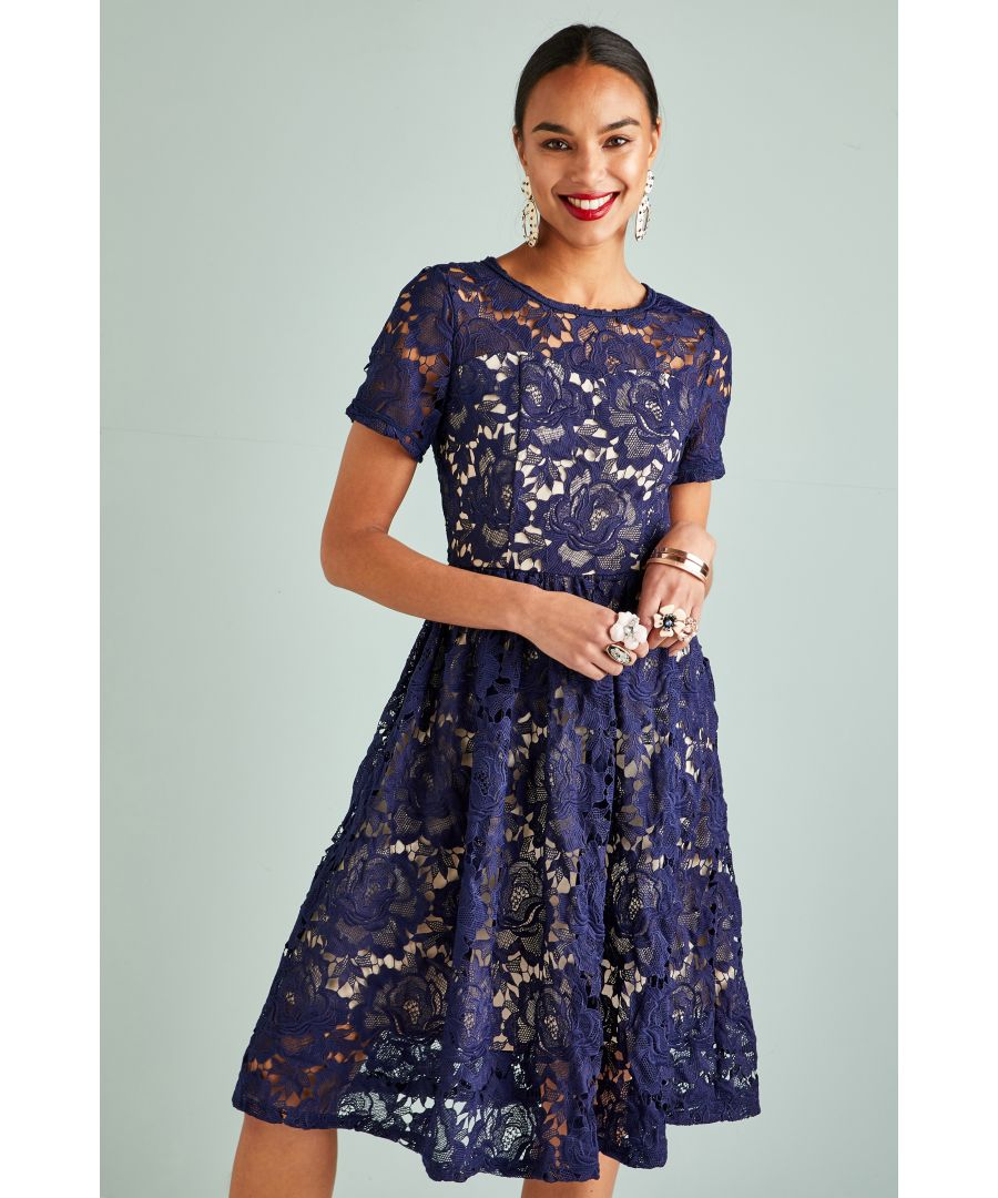 Image for Fit And Flare Lace Dress