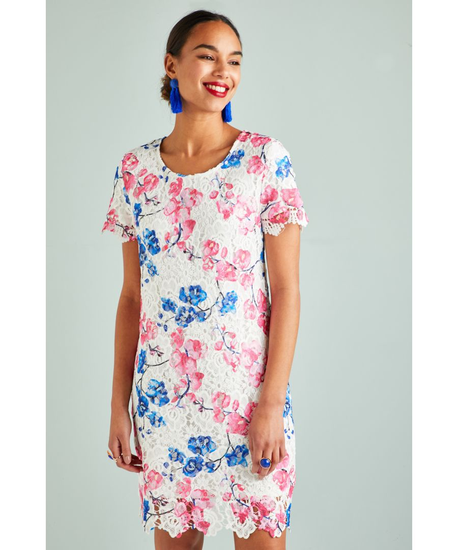 Image for Blossom Print Lace Tunic