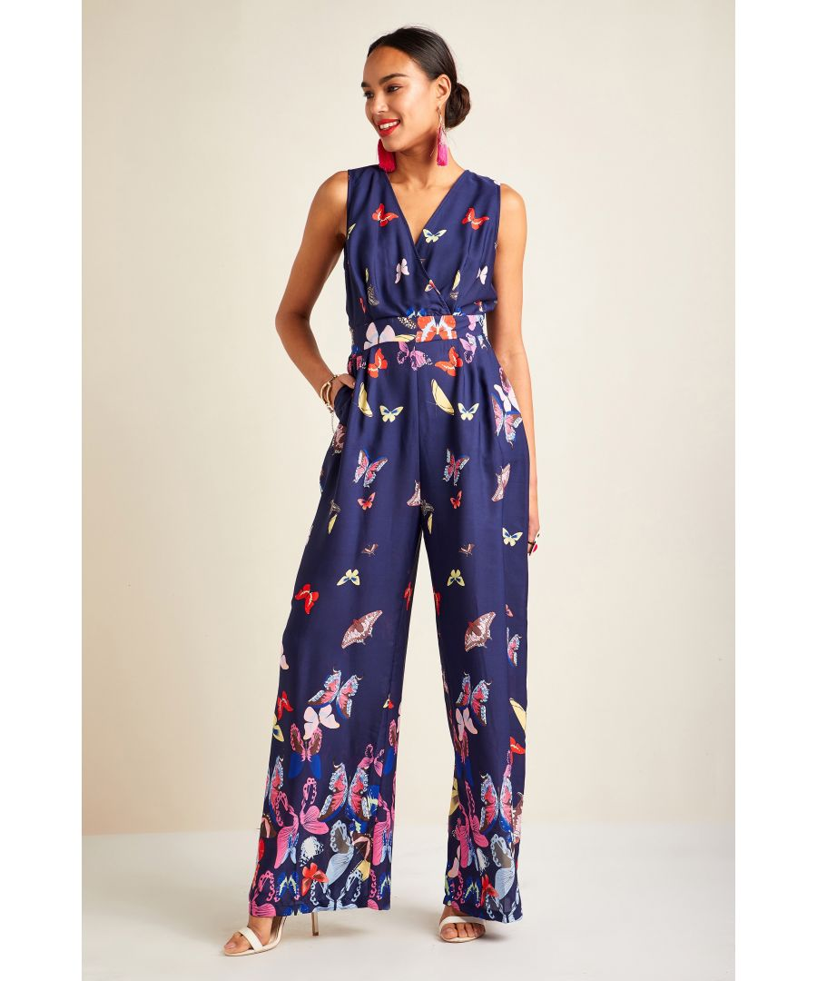 Image for Butterfly Mirror Print Jumpsuit