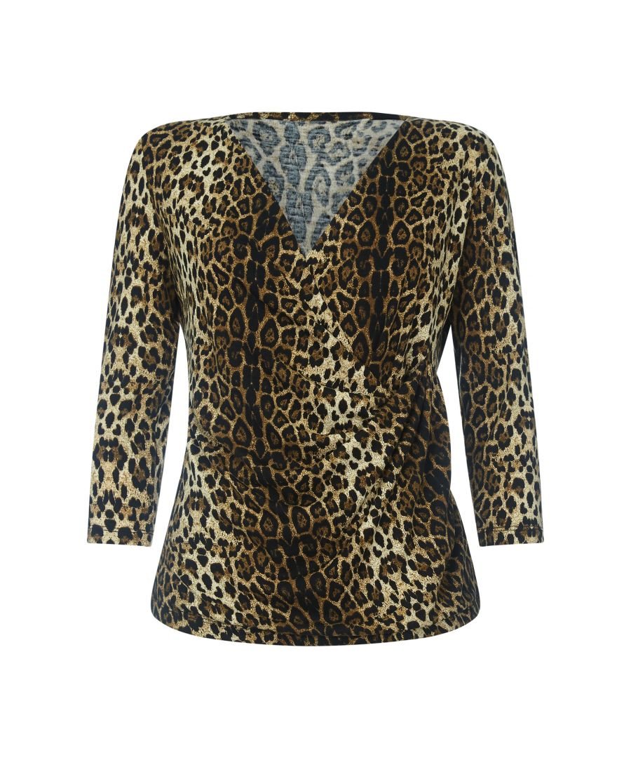 Image for Leopard Print Wrap Top