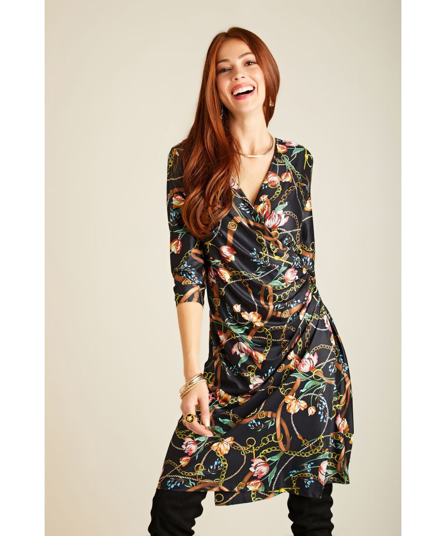 Image for Tulip And Chain Print Wrap Dress