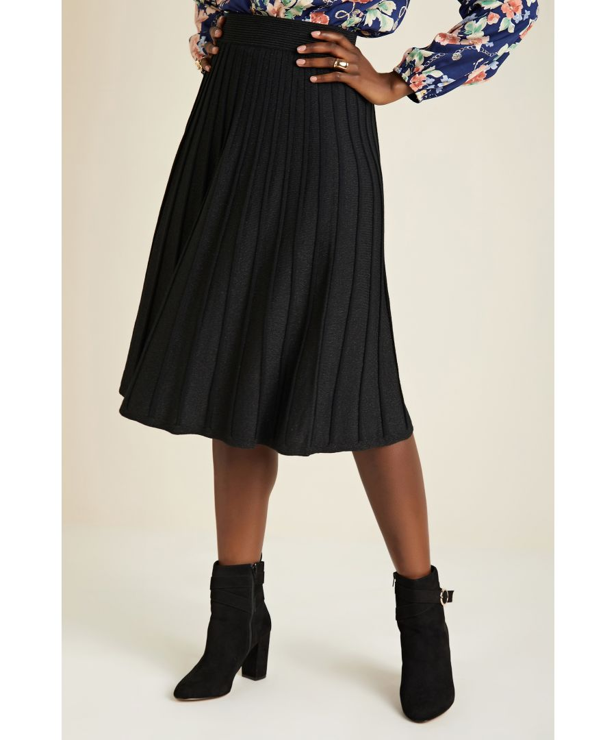 Image for Knit Pleated Skirt