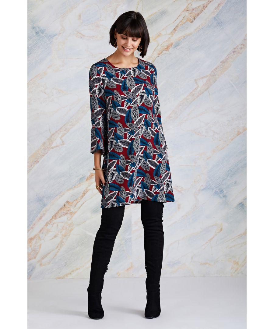 Image for Multi Abstract Print Tunic Dress