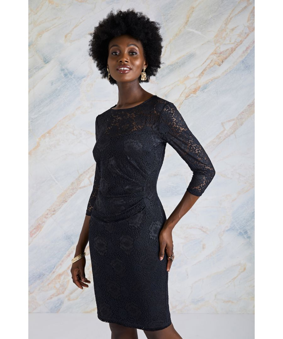 Image for Lace Front Gathering Dress