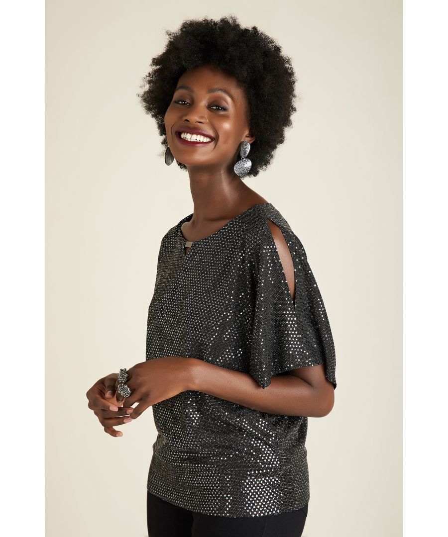 Image for Relaxed Sequin Party Top