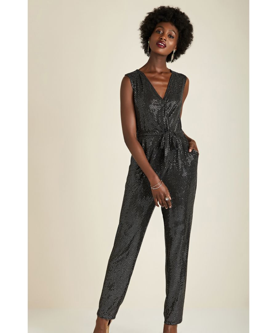 Image for Sequin Party Jumpsuit