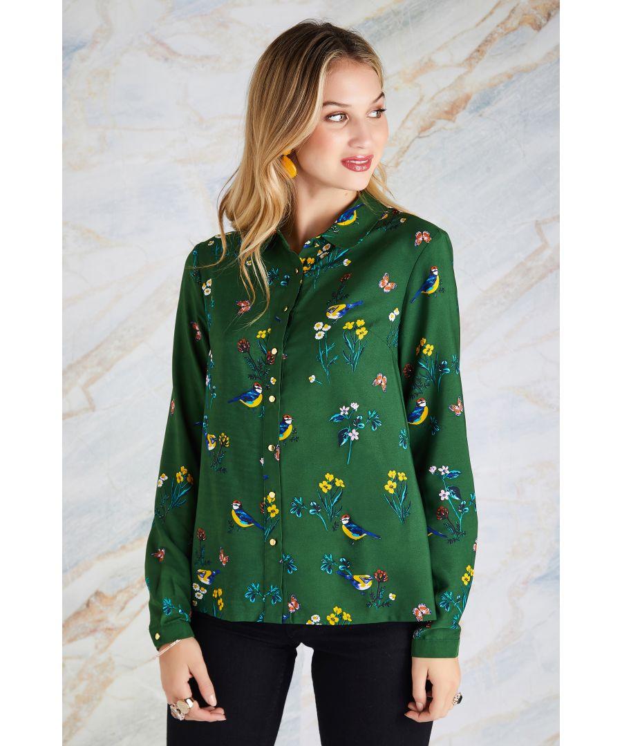Image for Bird Print Shirt