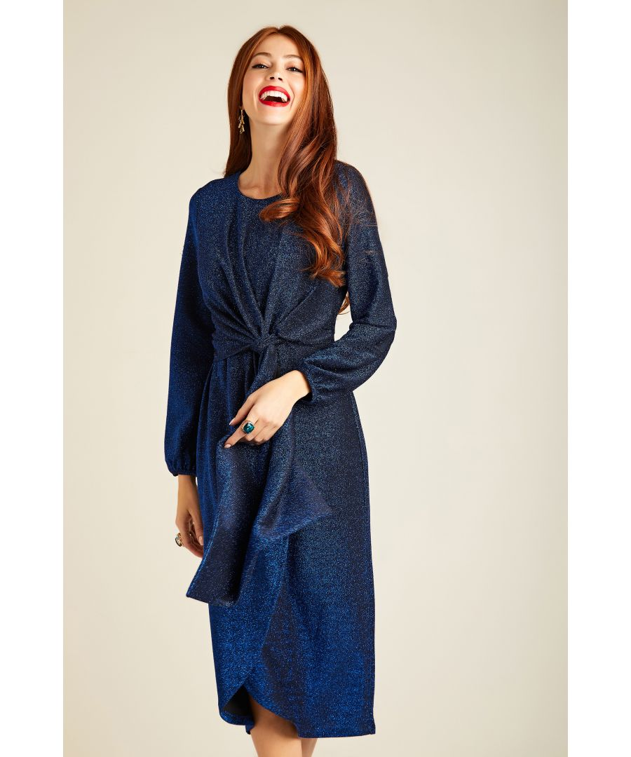 Image for Twist Knot Lurex Party Dress