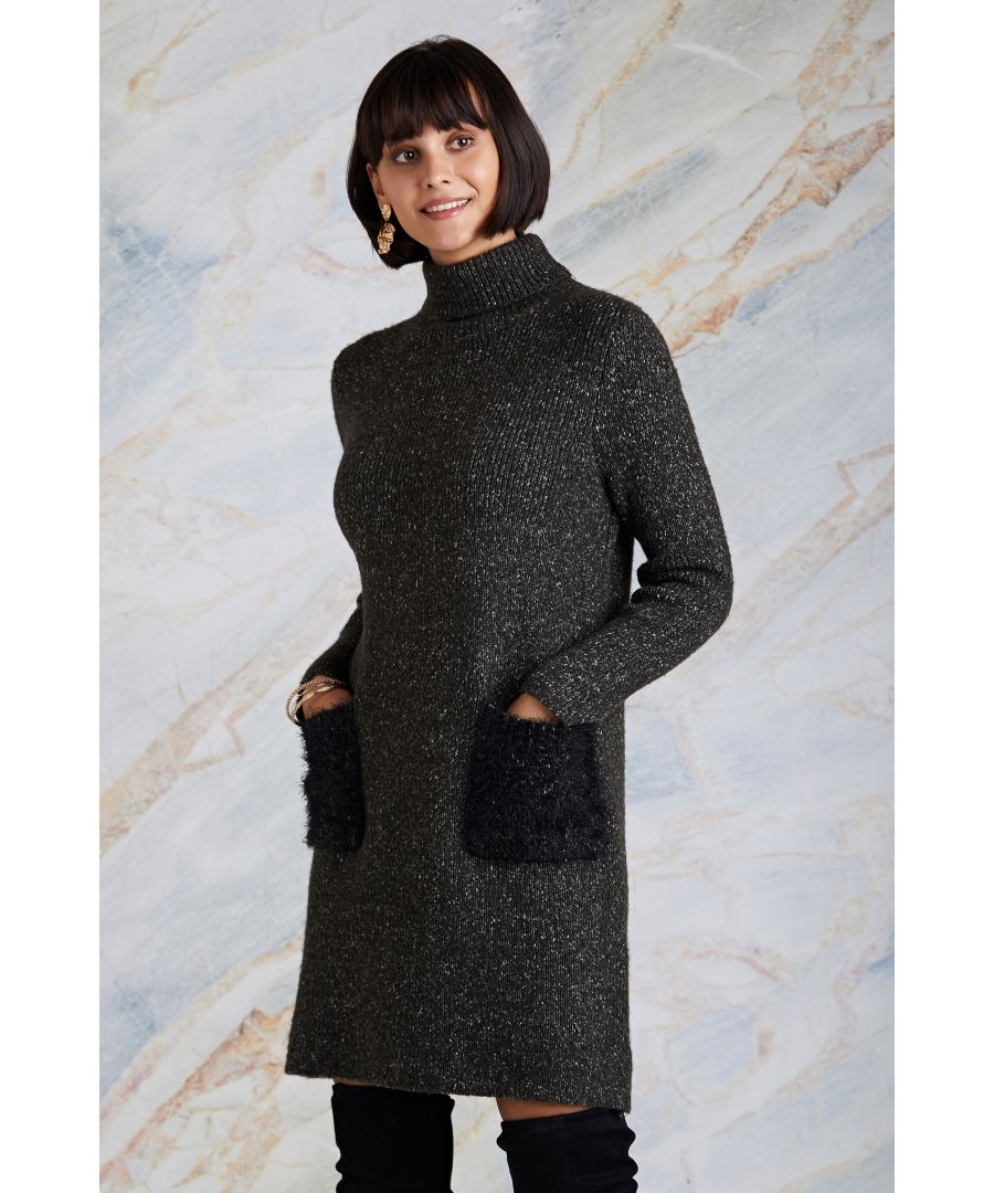 Image for Knitted Tunic With Fluffy Knit Pockets
