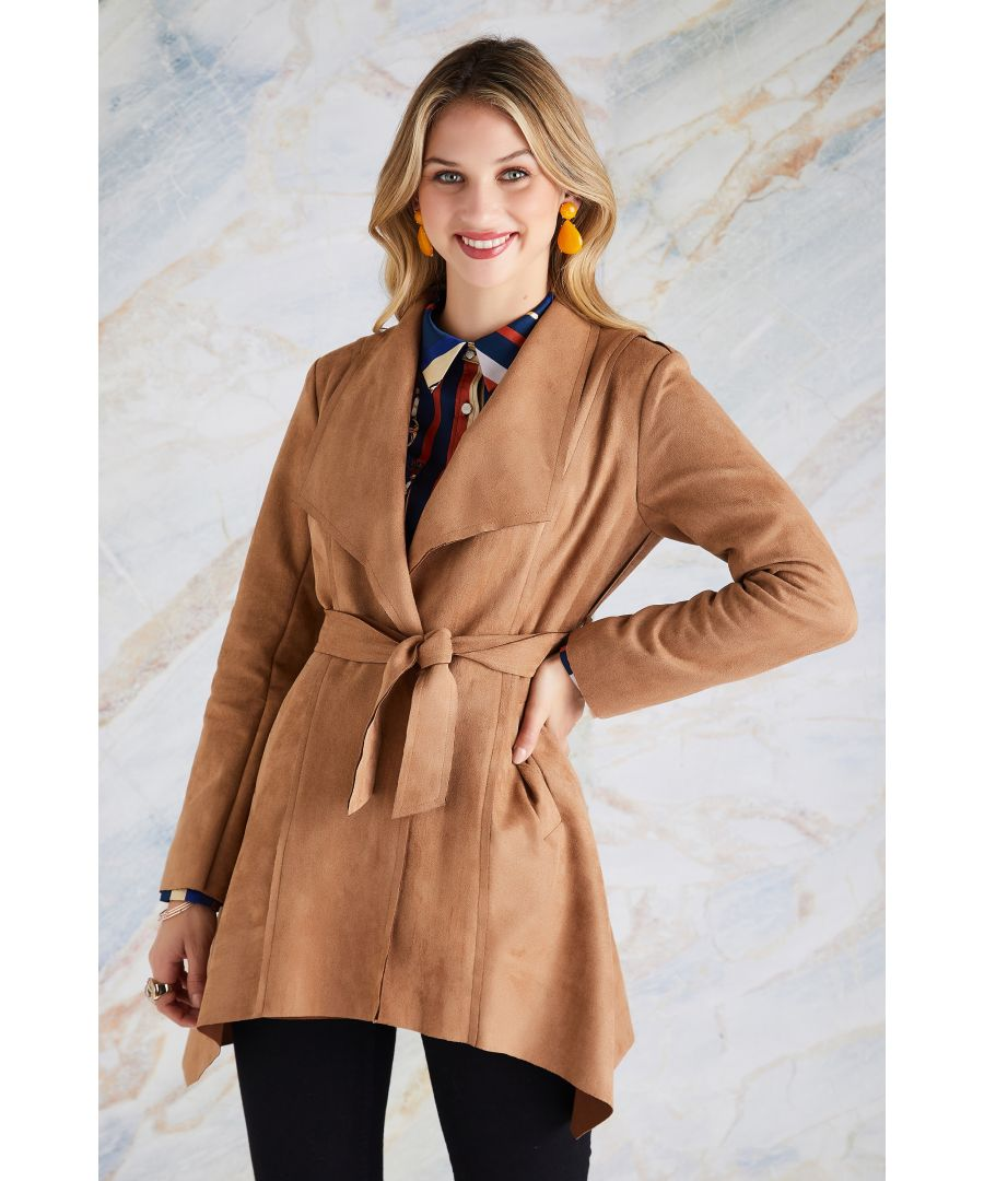 Image for Waterfall Suede Tie Belt Jacket