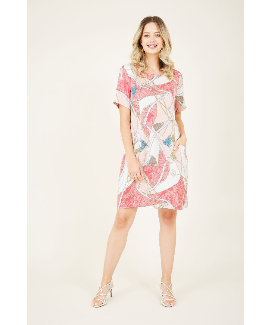 Image for Pink Scarf Print Tunic