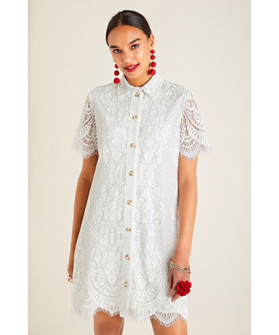 Image for Corded Lace Shirt Dress