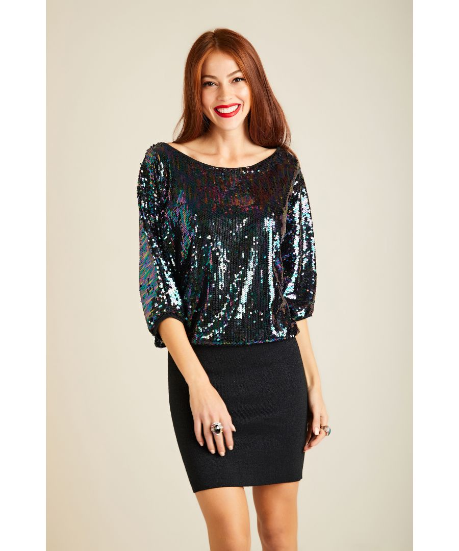 Image for Sequin Batwing Knit Tunic