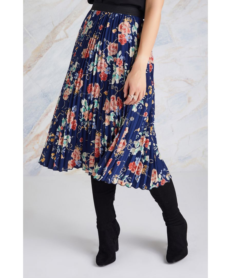 Image for Rose And Chain Pleated Skirt
