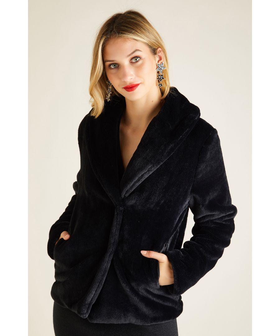 Image for Fur Collar Short Jacket