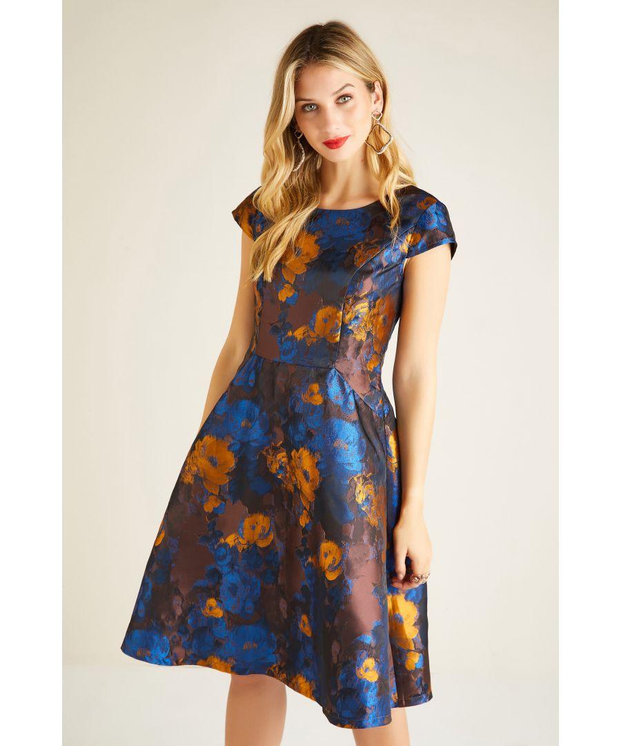 Image for Jacquard Blurred Rose Dress