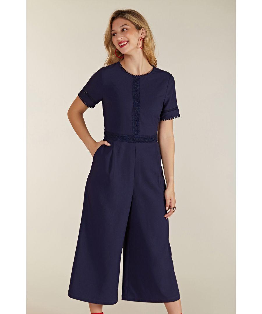 Image for Lace Trim Jumpsuit
