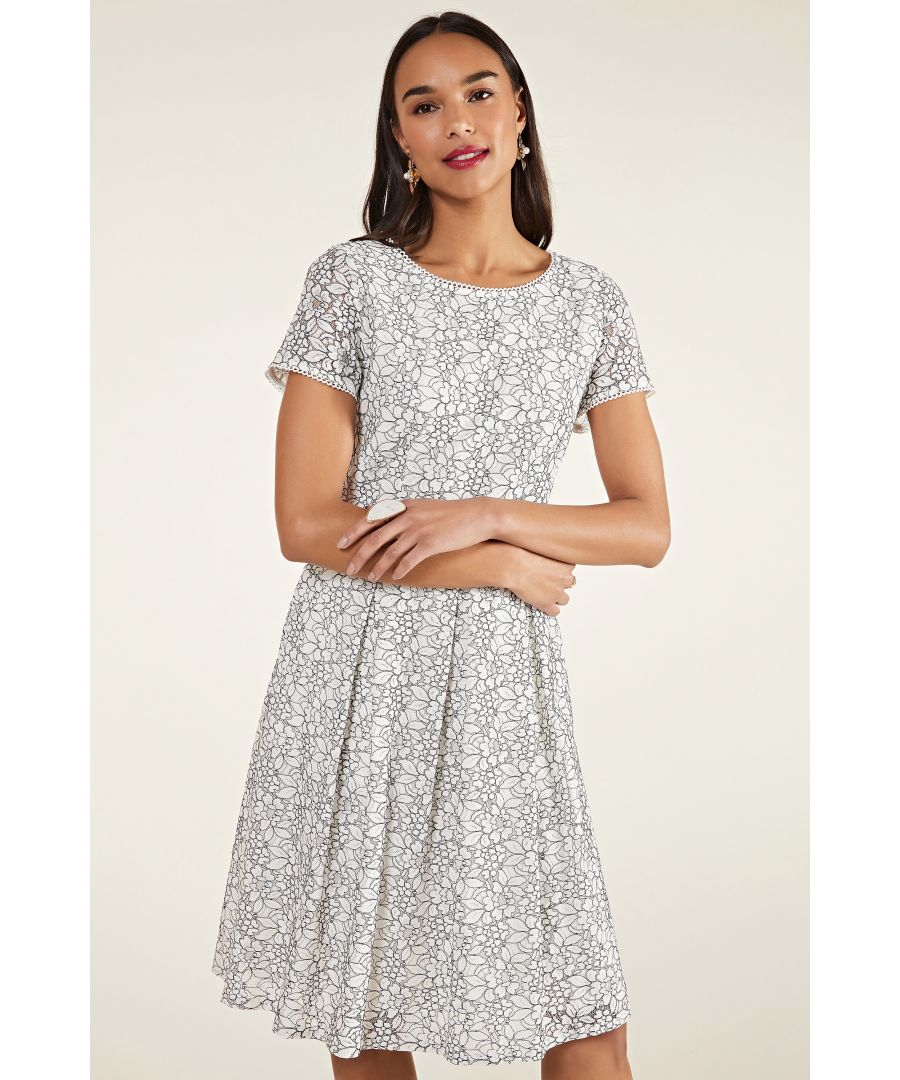 Image for Flower Lace Fit And Flare Dress
