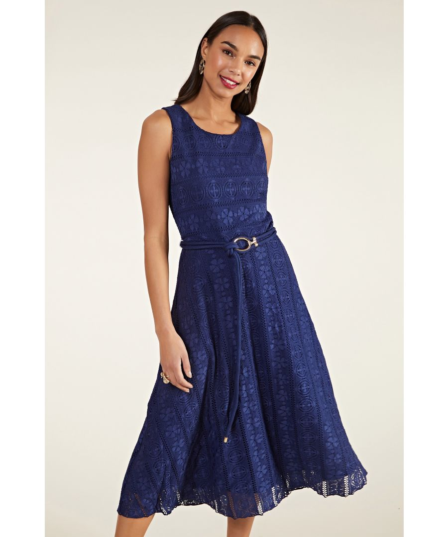 Image for Lace Midi Dress With Rope Detail