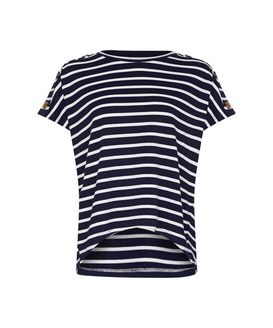 Image for Stripe Top With Button Detail