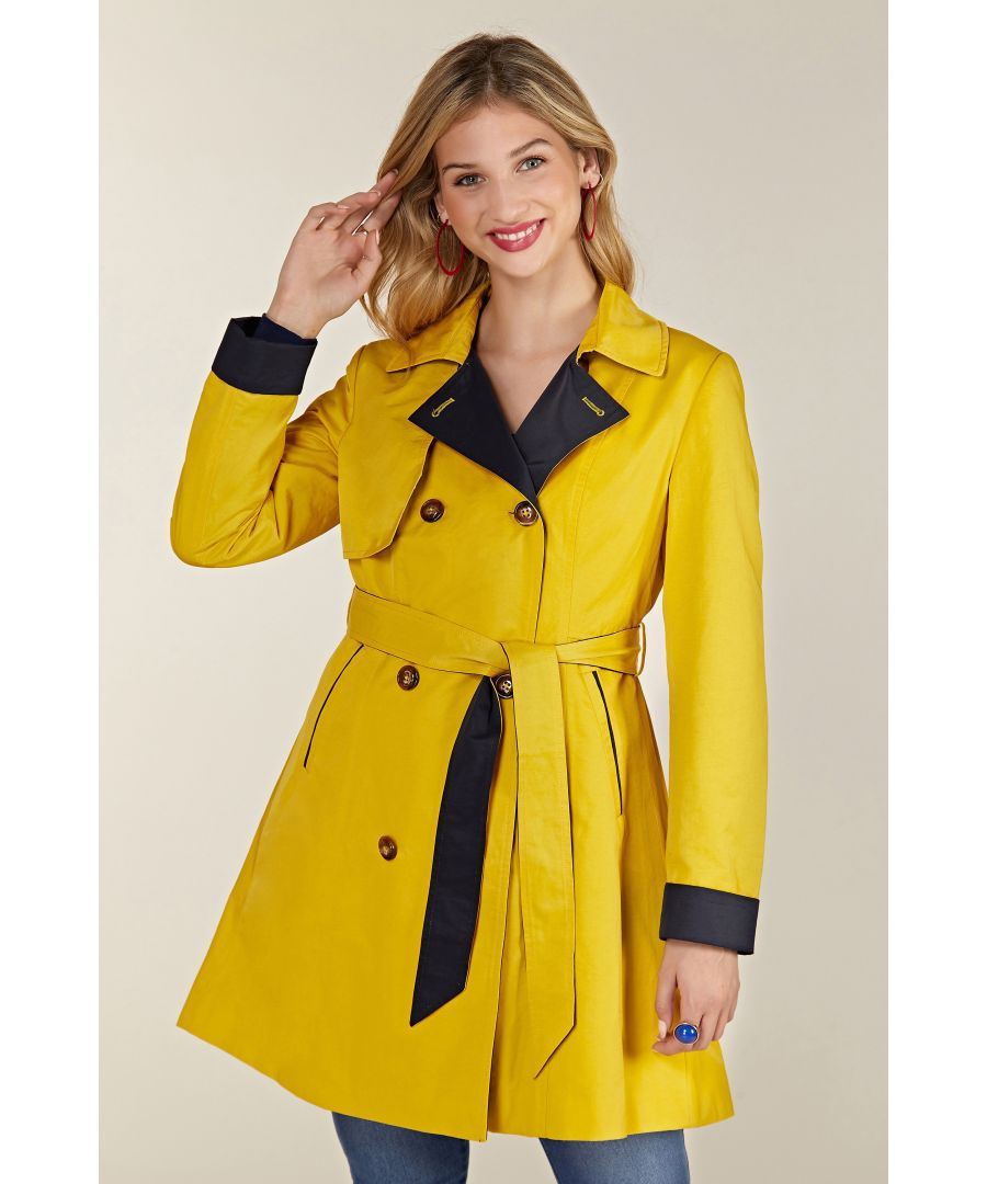 Image for Mustard Rain Mac With Spot Lining