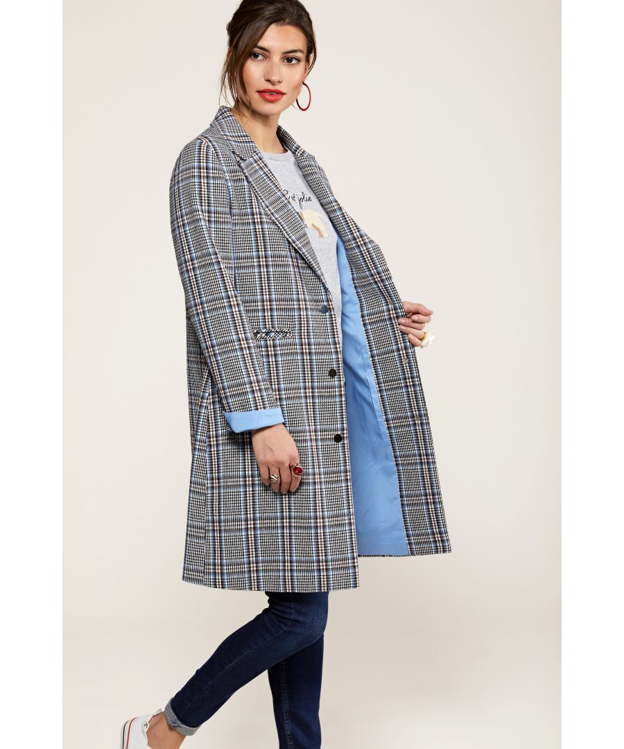 Image for Check Crombie Coat