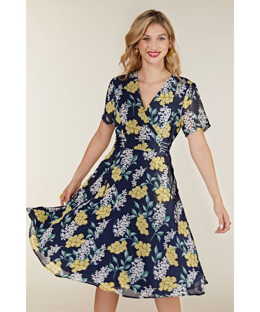 Image for Spring Floral Dress With Tie Detail