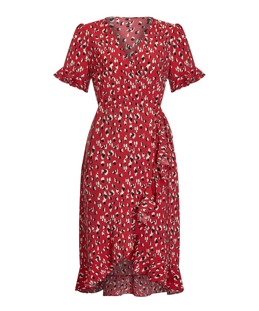 Image for Animal Dash Print Wrap Dress