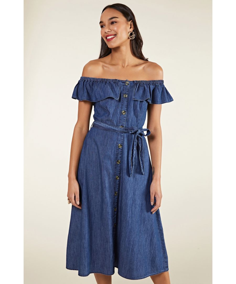 Image for Bardot Denim Button Through Dress