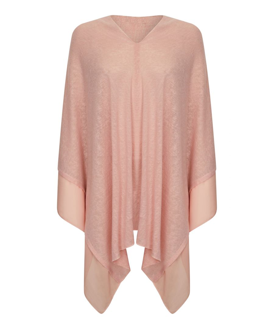 Image for Summer Poncho With Contrast Fabric Borde