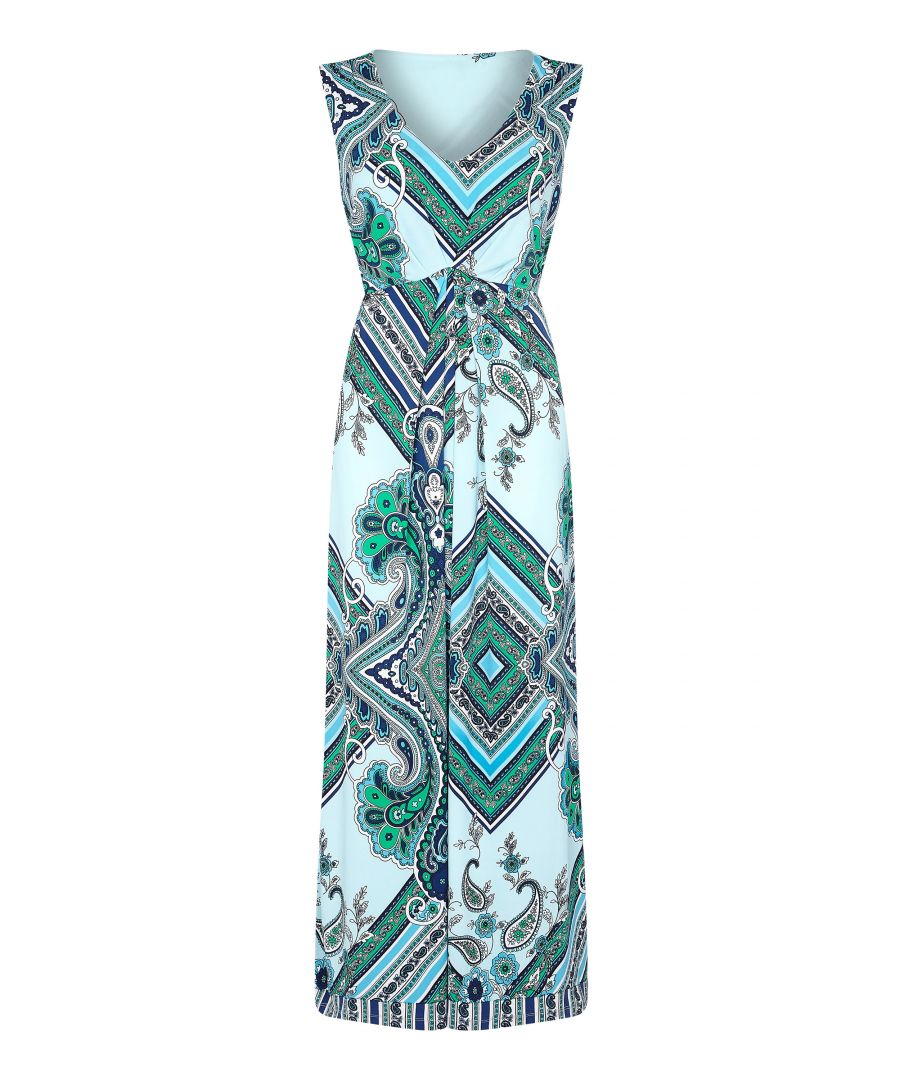 Image for Scarf Print Maxi Dress