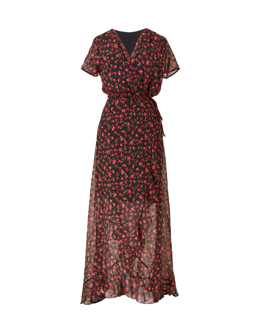 Image for Distsy floral print wrap dipped hem maxi