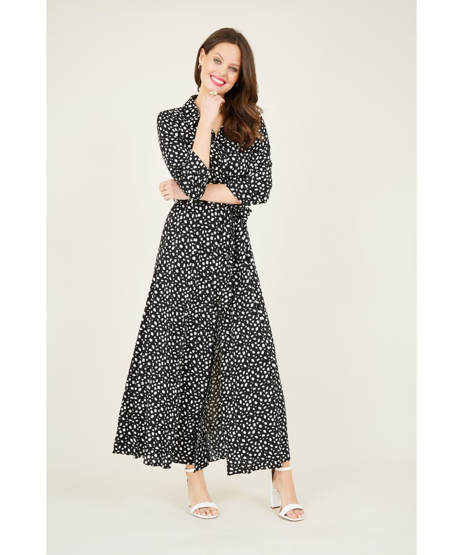 Image for Blotch print maxi shirt dress