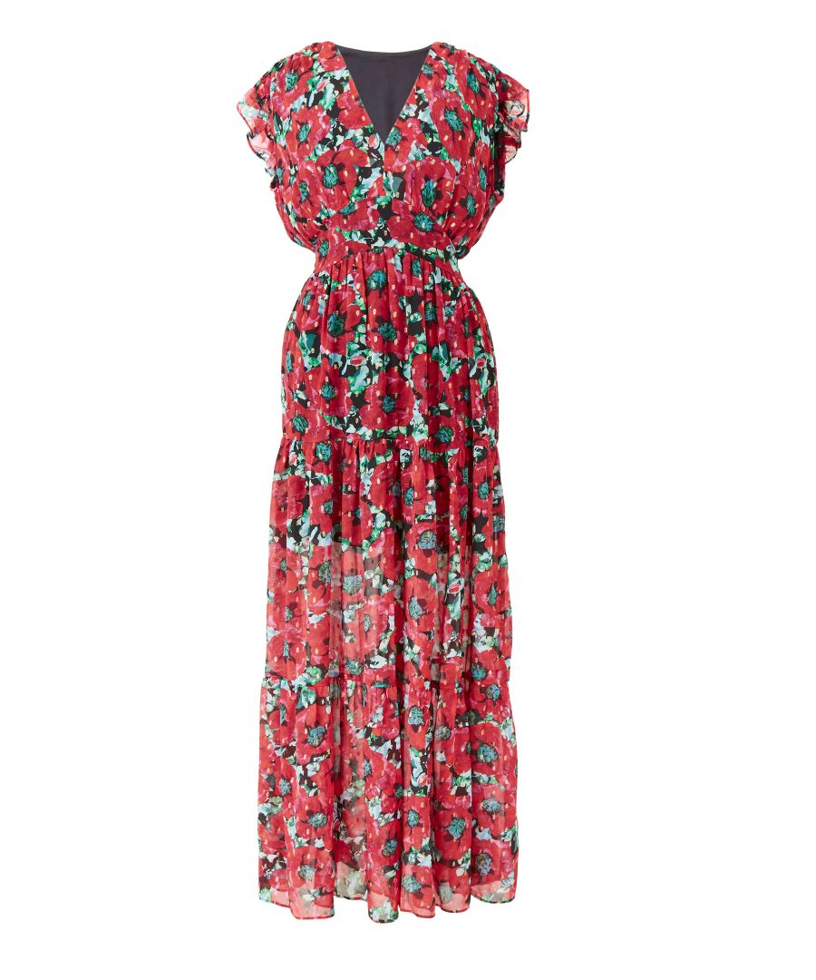 Image for Poppy print maxi dress