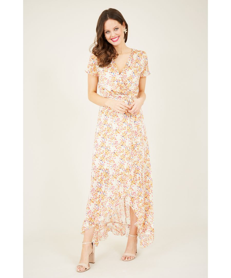 Image for Floral Front Wrap Maxi Dress